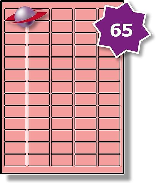 650 Etichette 65 Par Foglio Label Planet/® A4 Etichette Metalliche Argentate per la Stampa Laser 38.1 x 21.2mm 10 Fogli LP65//38 LS.