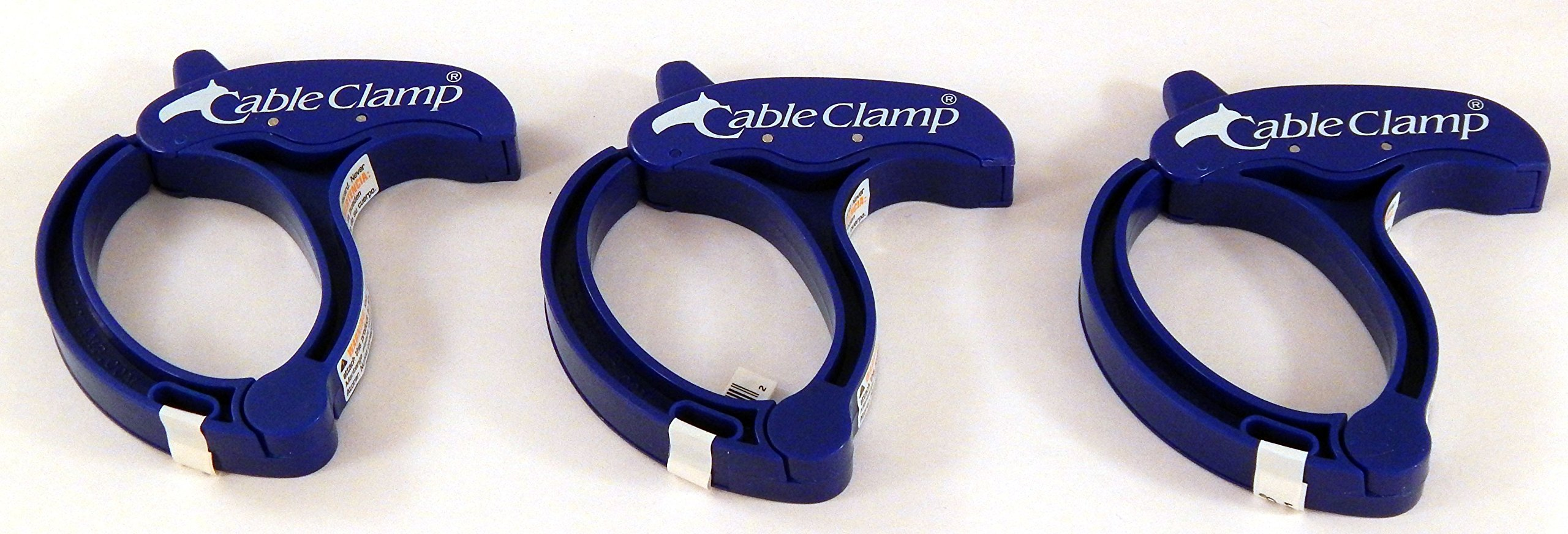 Cable Clamp, LARGE Cable / Hose / Rope / Power Tool / Computer Cable Clamp, Blue Color (Set/ Pack of 3)