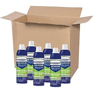 Microban Professional Sanitizing Spray, clear