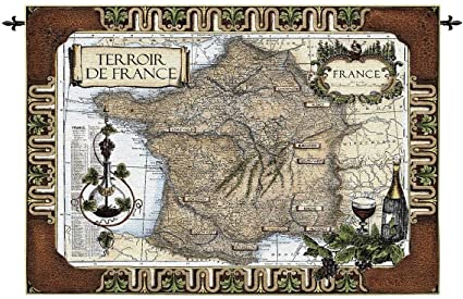 Amazon design toscano french wine country old world map wall design toscano french wine country old world map wall tapestry gumiabroncs Images