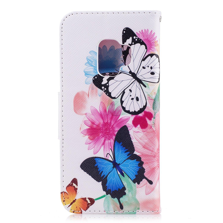 Wholesale 100pcs/lot Bear Butterfly Multi-patterns Flip Leather Case for Samsung Galaxy S9/S9 Plus/S8/S8 Plus/S7/S7E/S6/S5 etc (Multi-Color) by Vfunn (Image #10)
