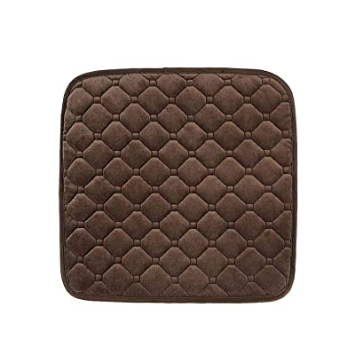 Car Seat Cushion Pad Seat Cover, Comfortable Seat Protector for Car, Truck, Office, Chair, Home Use, Brown.: Automotive