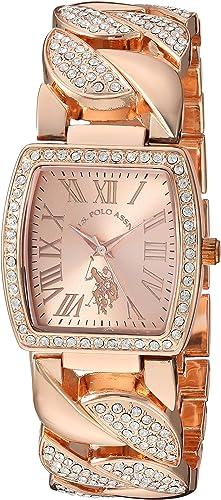 Amazon.com: U.S. Polo Assn. Women's Analog Quartz Watch with Alloy Strap, Rose  Gold, 21 (Model: USC40204AZ): Watches