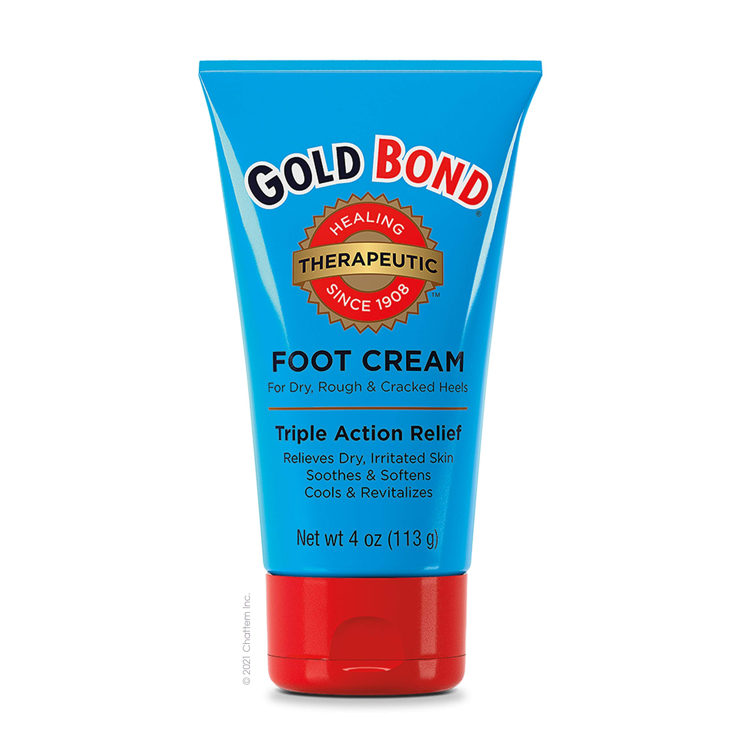 Gold Bond Foot Cream Triple Action 4 Oz (3 Pack)