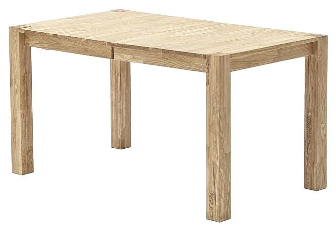 Robas Lund, Tisch, Esszimmertisch, Franz, Eiche/Massivholz, ausziehbar, 140 x 80 x 76cm, FRA140WE