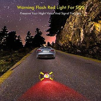 Sunix Foco Led Recargable 30w, Luz de Trabajo 48 Leds con asa Magnética, 4 Modos, Impermeable IP64 con Baterías Recargables Incorporadas 1600LM y ...