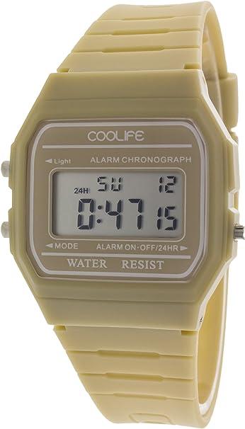 Coolife Retro Style Watches - Reloj de Cuarzo Unisex, con Correa de plástico
