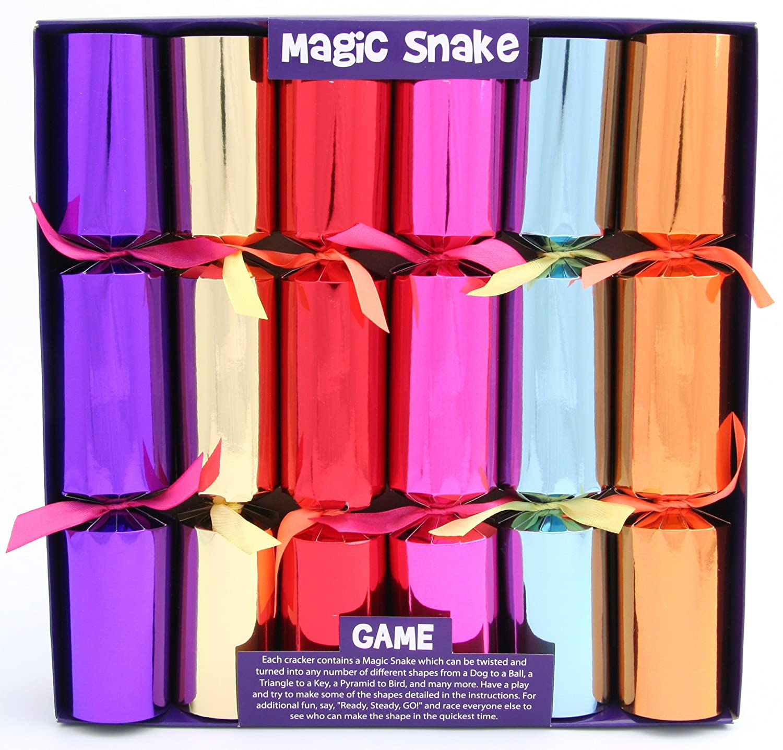 6 Magic Snake Christmas Crackers Kuckoo Krackers