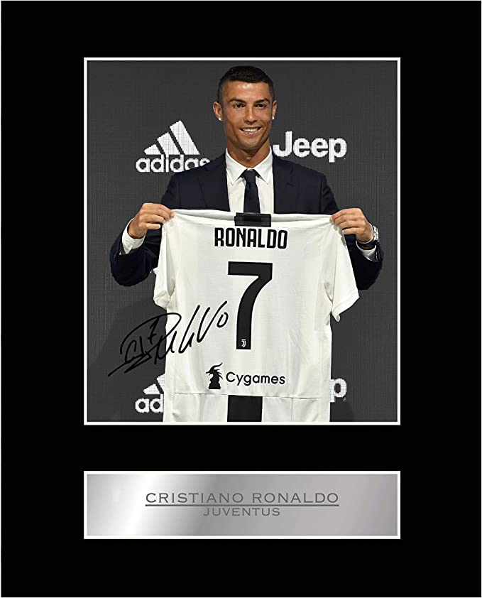 Foto enmarcada firmada por Cristiano Ronaldo Juventus FC # 2: Amazon.es: Hogar