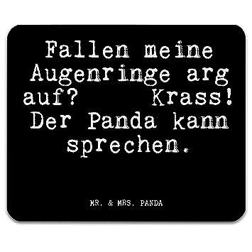 Mr Mrs Panda Mauspad Druck Mit Spruch Fallen Meine Augenringe