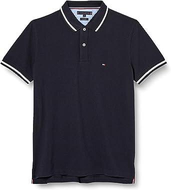 Tommy Hilfiger Contrast Tipped Regular Polo Camisa, Blue, M para Hombre: Amazon.es: Ropa y accesorios