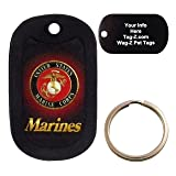 Custom Engraved Pet Tag - Marines Logo - Dog Tag