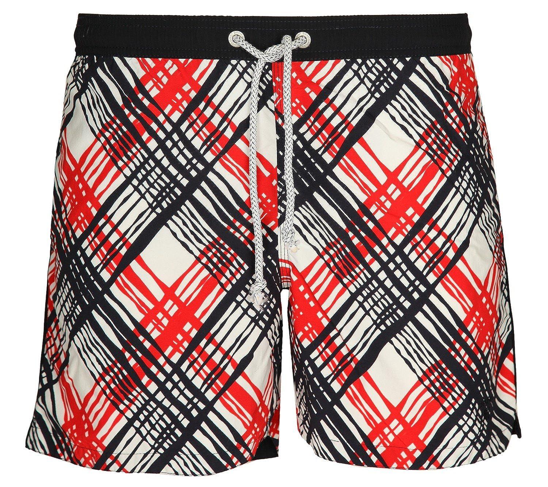 Gant Men Swimming trunks red/dark blue/white Y.C. Plaited Check Swimtrunks 20765-620