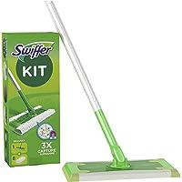Swiffer Golvmopp med 8 Dammdukar, Vit/Grön