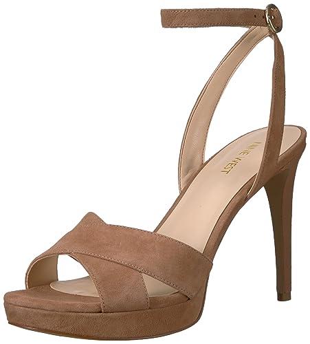 a7a6d7e4ee8 Nine West Women s QUISHA Heeled Sandal Natural Suede 10 ...