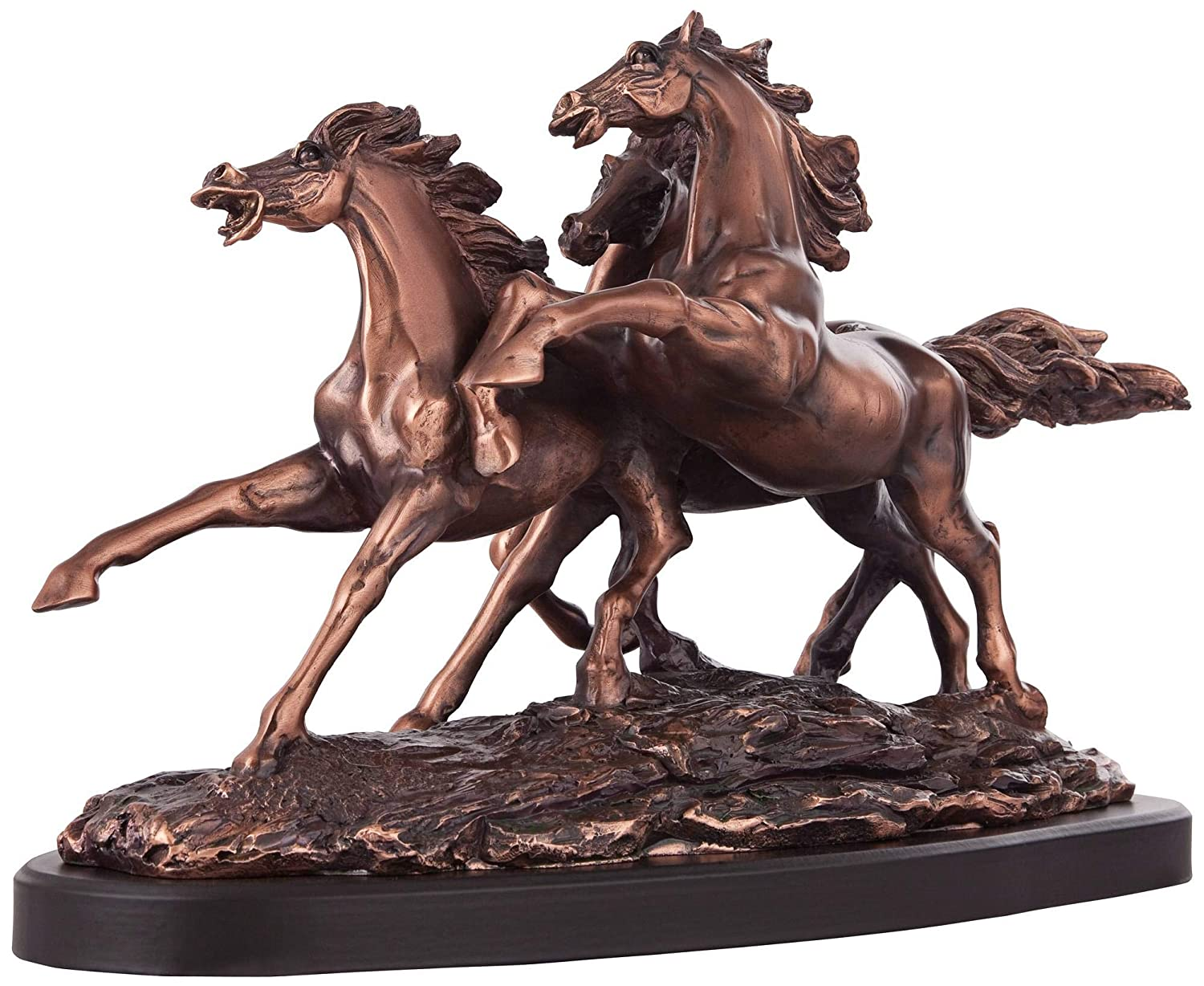 Kensington Hill Galloping Western Stallions 14 Wide Table Sculpture