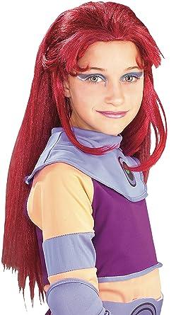 Amazon.com: Teen Titans Starfire peluca – Niño STD ...