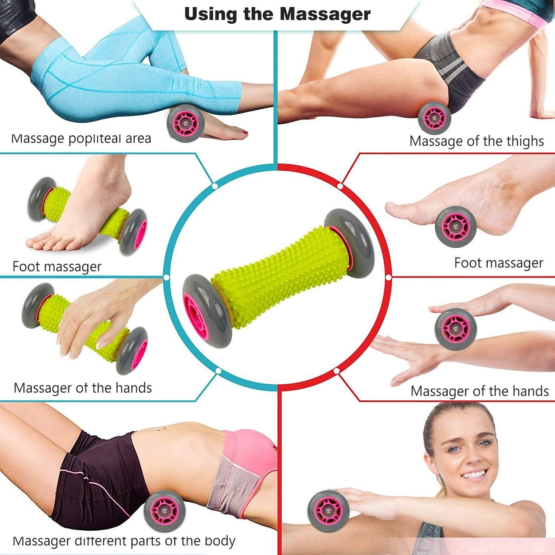 Rouleau d/'exercice pour poignets B/âton de massage musculaire avant-bras et fasciite plantaire Outil de r/é/éducation Rouleau de massage r/évolutionnaire pour pied