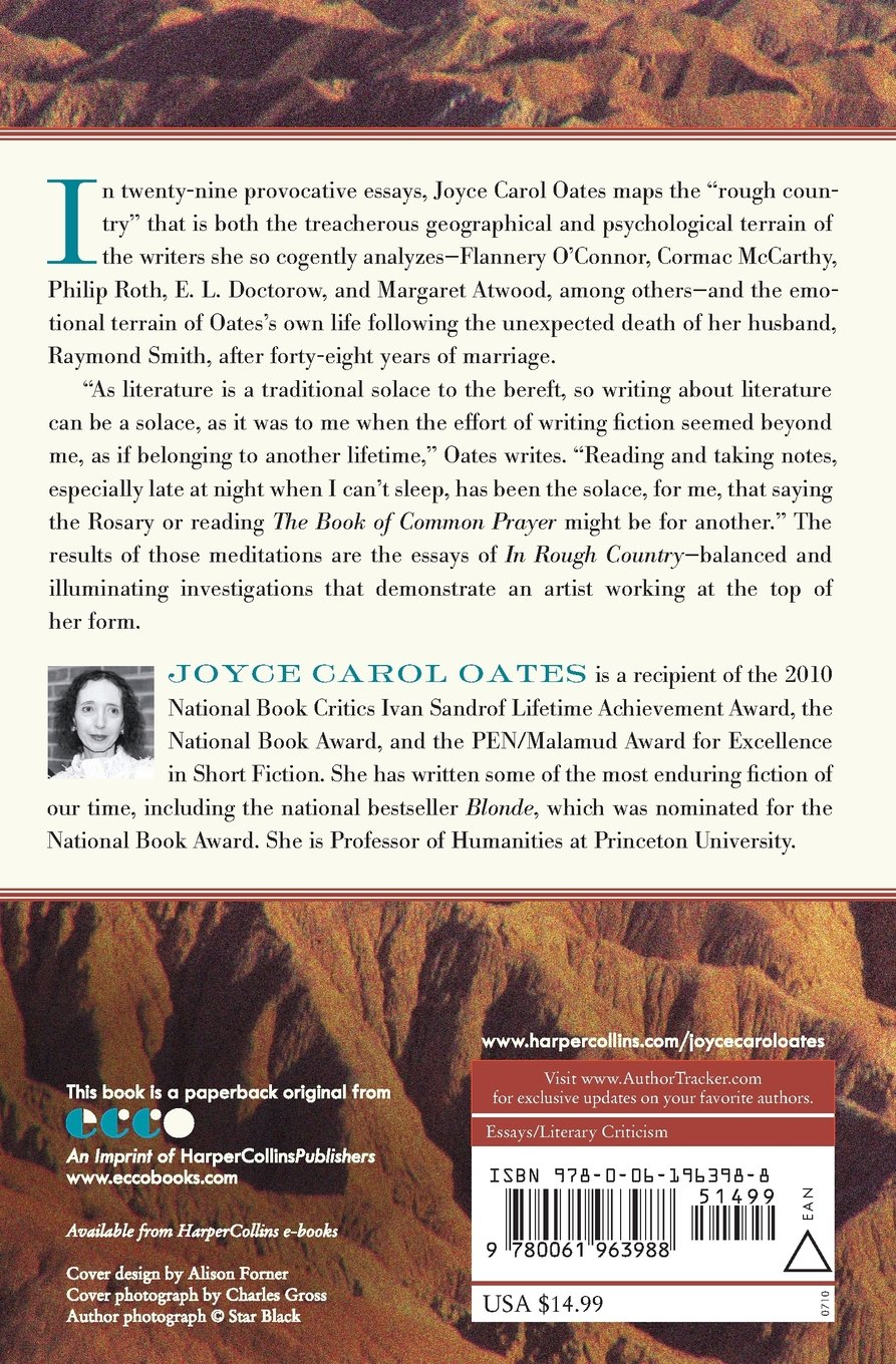 in rough country essays and reviews joyce carol oates in rough country essays and reviews joyce carol oates 9780061963988 com books