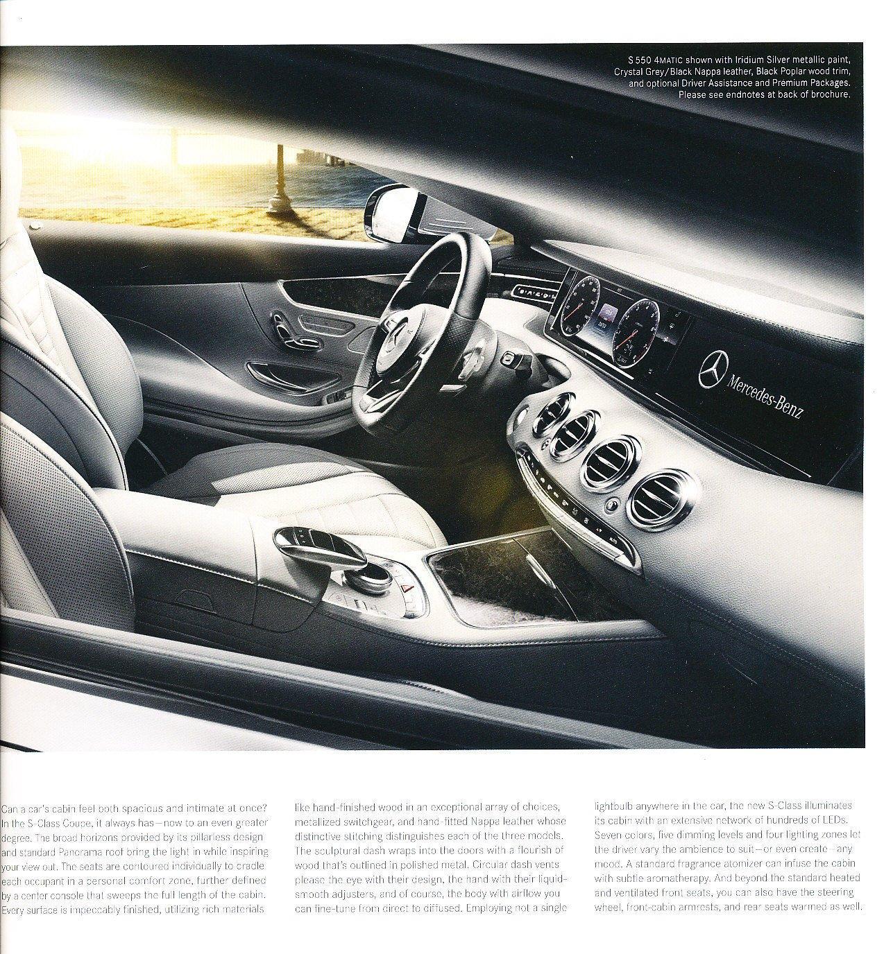 Amazon com: 2015 Mercedes Benz S-Class Coupe S550 S63 S65