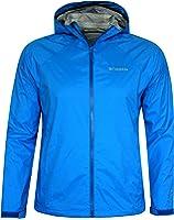 Columbia Men Whisper Ridge Packable Omni-Tech Hooded Rain Jacket