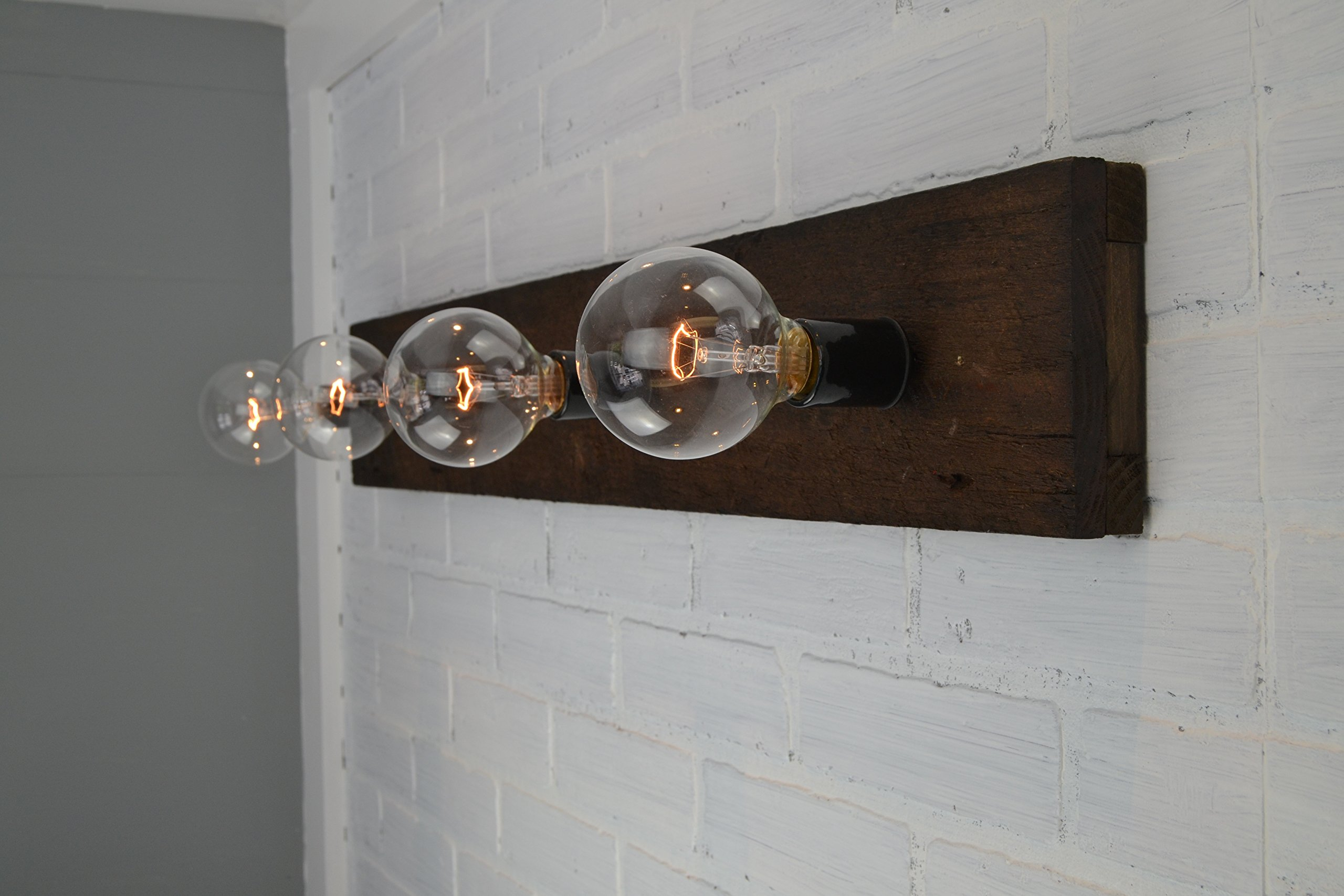 Wood Vanity Light by West Ninth Vintage (Image #3)