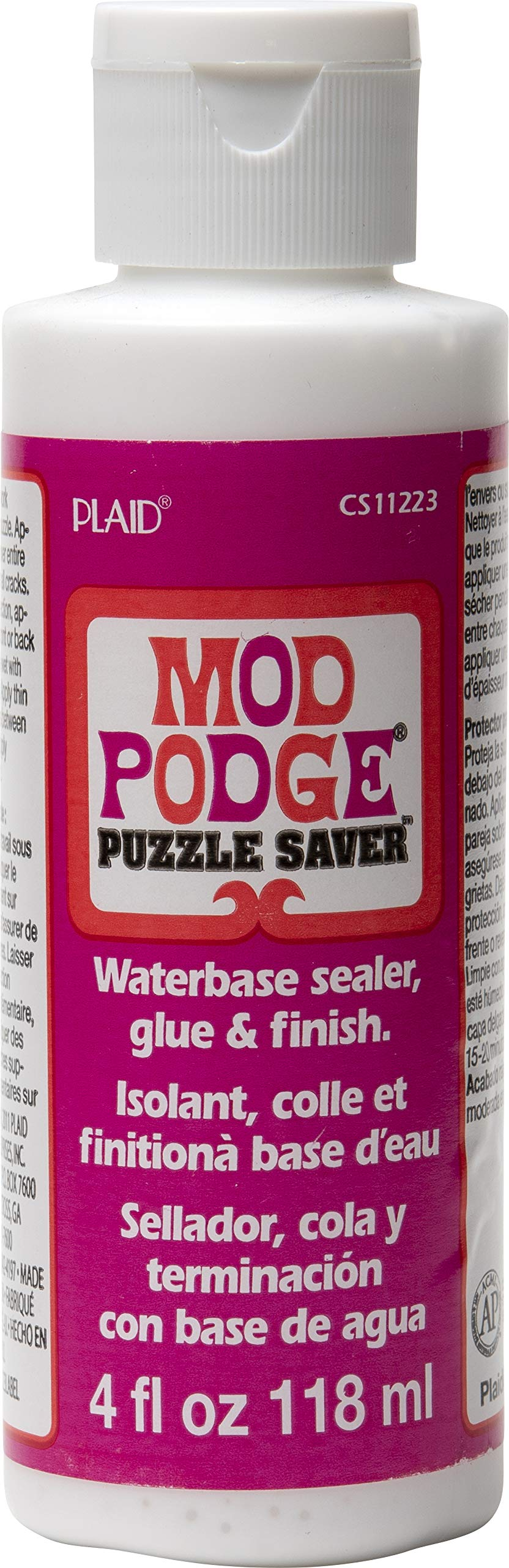 Mod Podge Puzzle Saver (4-Ounce), CS11223, 4 oz, 4 Fl Oz