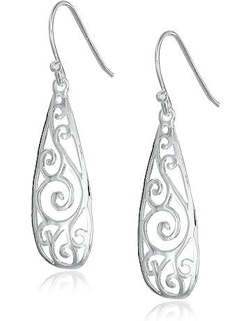 99611a947 Sterling Silver Filigree Tear Drop Earrings