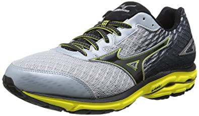 Mizuno Men's Wave Rider 19 Running Shoe, Pearl/Black, ...