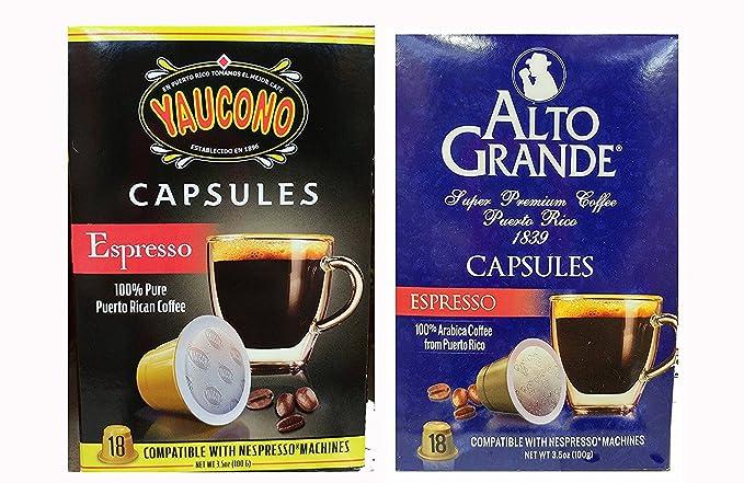 Alto grande Espresso y yaucono Puerto Rico Cápsulas de Café ...