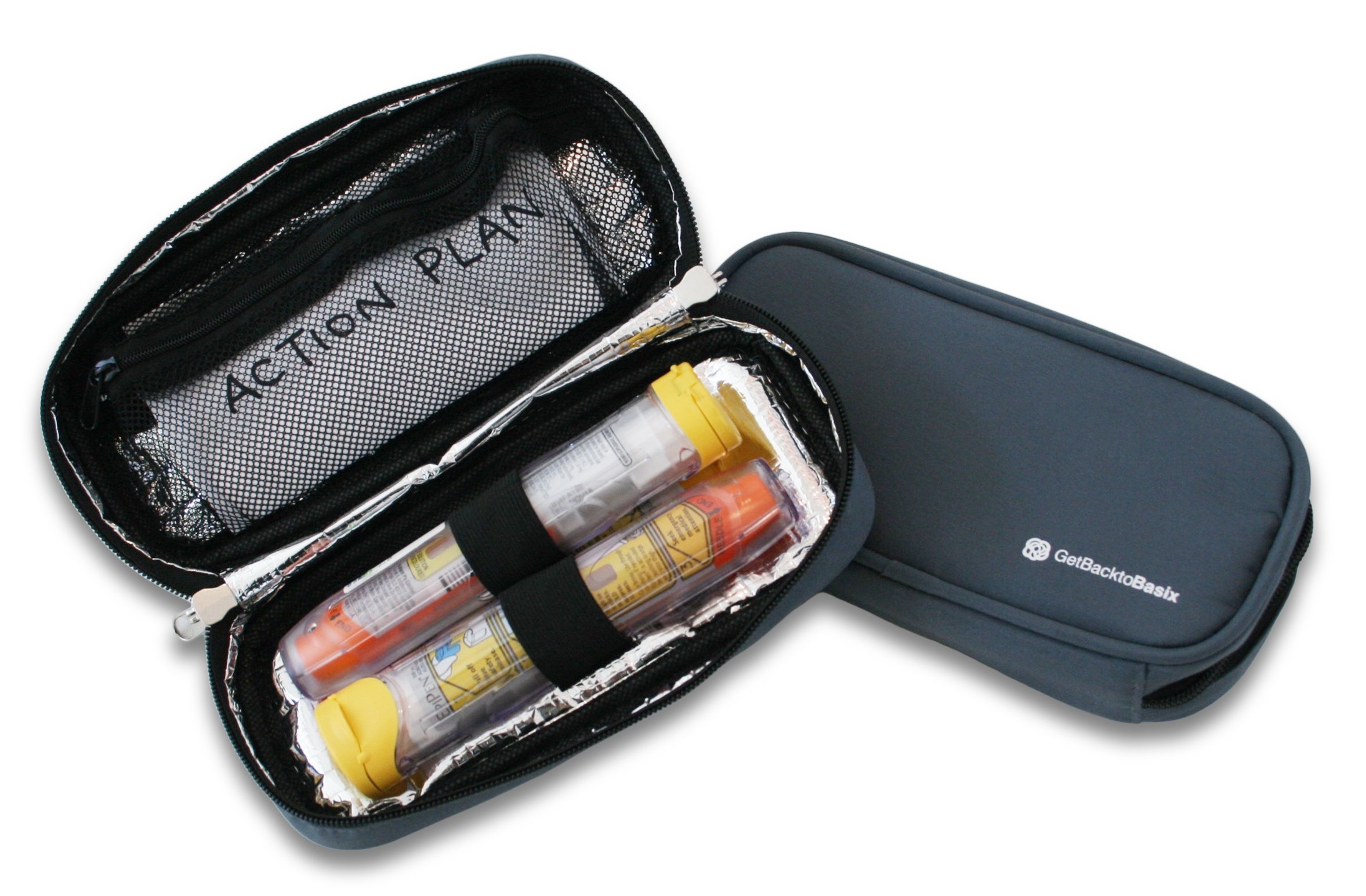 EPIPEN CASE Insulated - Medical Travel Organizer for Allergy Medications Like Epi pens, Inhalers, Asthma & More | Maintains Temperature of Medication (Medium - No Panels, Gray)