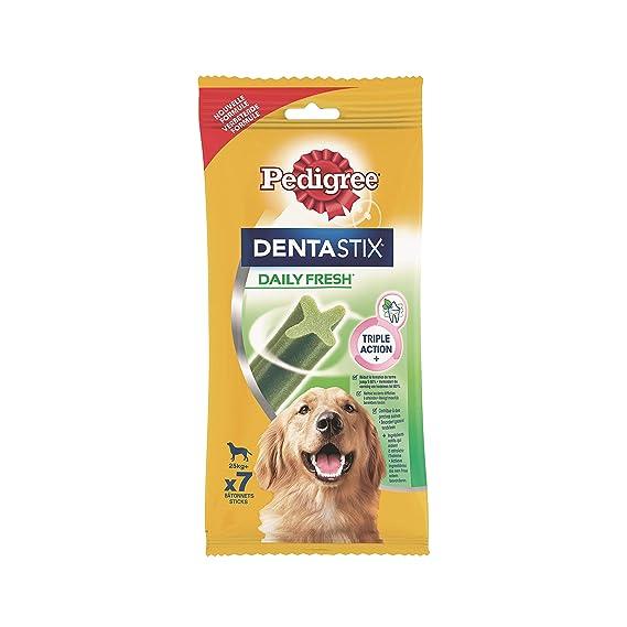 Pedigree Hundesnacks Hundeleckerli Dentastix Fresh für frischen Atem Maxi Tägliche Zahnpflege für große Hunde >25kg