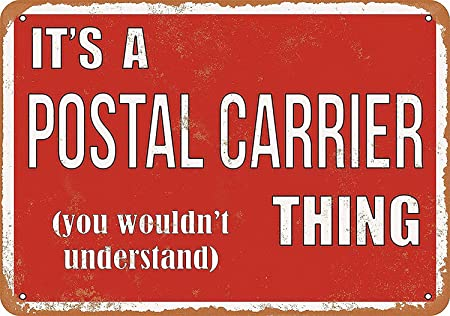 HALEY GAINES Postal Carrier Thing Placa Cartel Póster de ...