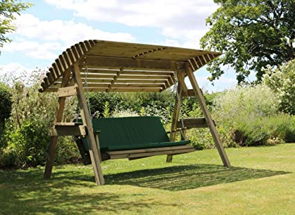 Astounding Parcel In The Attic Aviles 2 Seat Wooden Garden Swing Chair With Canopy Pad Hammock Bench Furniture Lounger 10 Year Warranty Against Rot Camellatalisay Diy Chair Ideas Camellatalisaycom