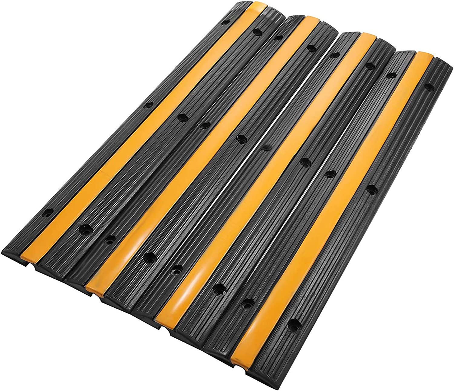 4pcs Cable Protector Ramp Wire Cover Rubber 1 Channel Warehouse PVC Modular