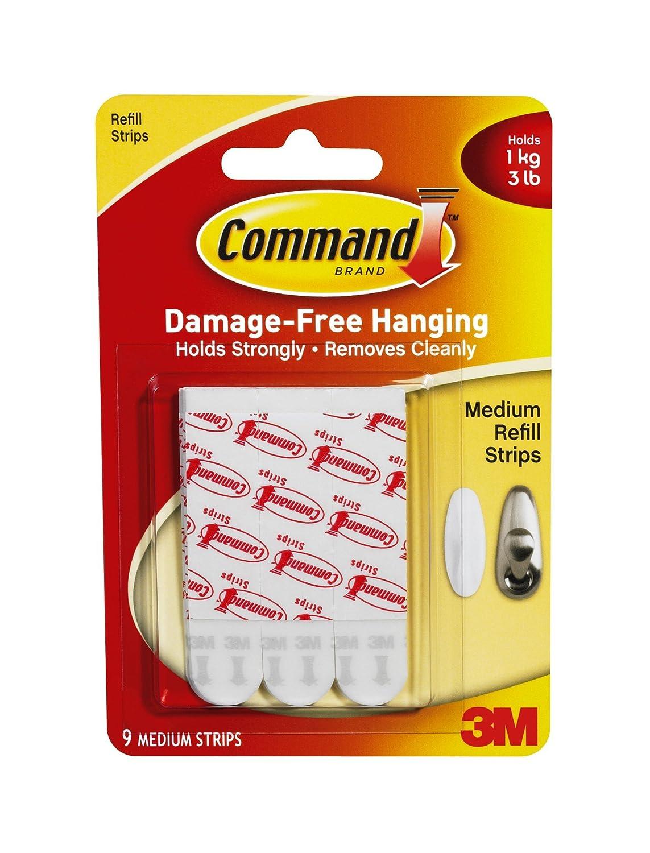 Command Medium Mounting Refill Strips, 18-Strip
