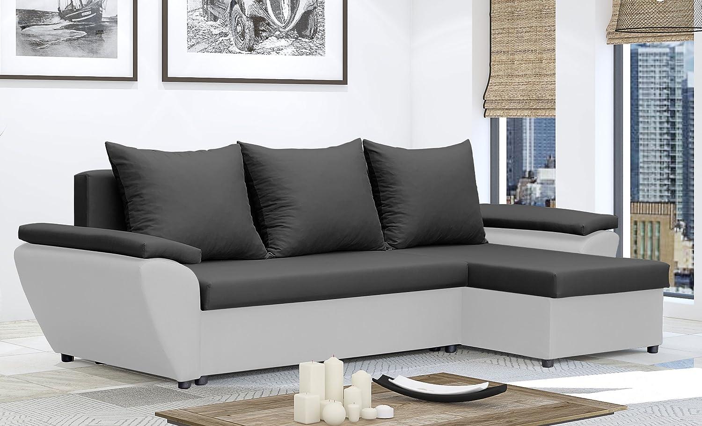 Sofá cama modelo «Jacob», esquinero, de color marrón y crema ...