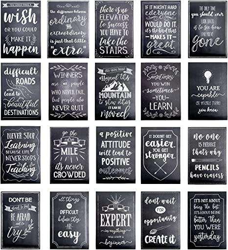 Motivational Posters for Students - 20-Pack Inspirational Posters,  Classroom Posters with Inspiring Quotes, Chalkboard Design, Perfect for  School ...