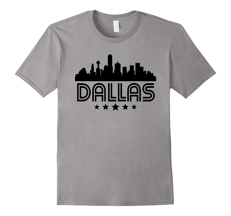 Dallas Texas Skyline Retro Style T Shirt Goatstee