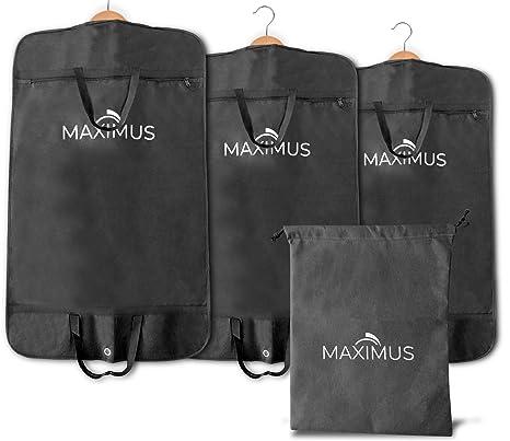 [PREMIUM KLEIDERSACK] 3er set inkl. Schuhbeutel - 100cm x 60cm - für Anzug, Kleid und Hemden - Hochwertige & atmungsaktive Kl