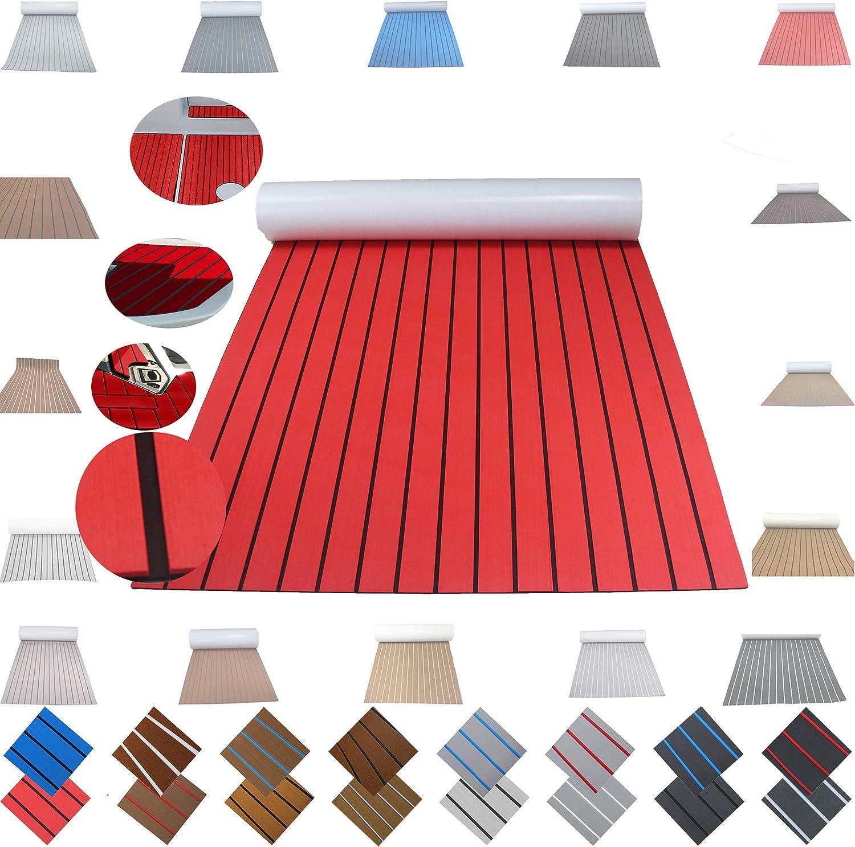 yuanjiasheng EVA Foam Teak Decking Sheet Marine Flooring Adhesive Carpet Black Grey Camouflage Embossed Dot Non Skid Material Mat 45x240cm//60x240cm//90x240cm