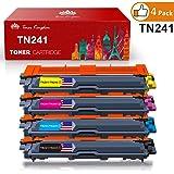 Toner Kingdom 4 paquete TN-241 TN-245 cartucho de tóner Compatible para Brother DCP-9020CDW HL-3140CW HL-3150CDW HL-3170CDW MFC-9140CDN MFC-9330CDW MFC-9340CDW Impresora