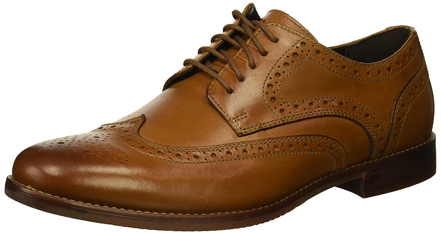 Rockport Men's Derby Room Wingtip Shoe in Black CH3350