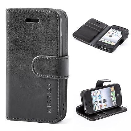 5aff178108 Amazon.com: iPhone 4 / 4s Case,Mulbess Leather Case, Flip Folio Book ...