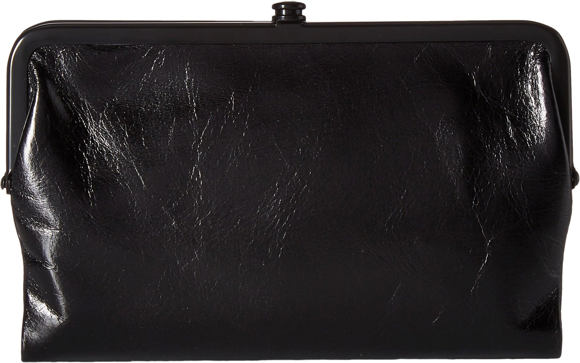 Hobo Womens Glory Vintage Leather Clutch Wallet (Black) by HOBO