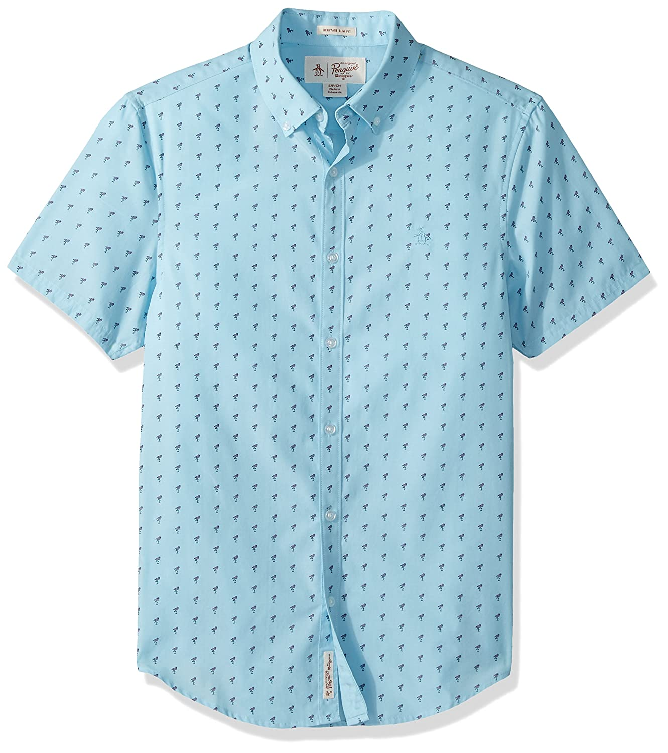 Amazon Original Penguin Mens Short Sleeve Flamingo Printed