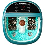 Foot Bath Massager with Heat, Foot Spa Machine Feet Soaking Tub Features Vibration, Spa Roller Massage Modes, 6 Pressure Node Rollers Stress Relieve Fatigue & Tens, Tired Feet Foot Massager with Heat