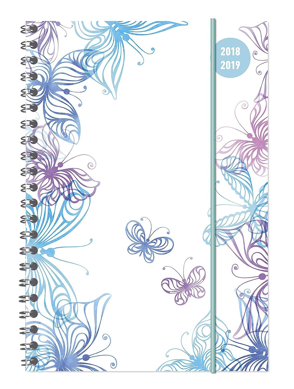 "Diario agenda scuola collegetimer ""Farfalle"" 2018/2019 - Spiralata - Settimanale - 224 pagine - 15x21 cm Alpha Edition 19.0694 Buchkalender Kalender / Buchkalender"