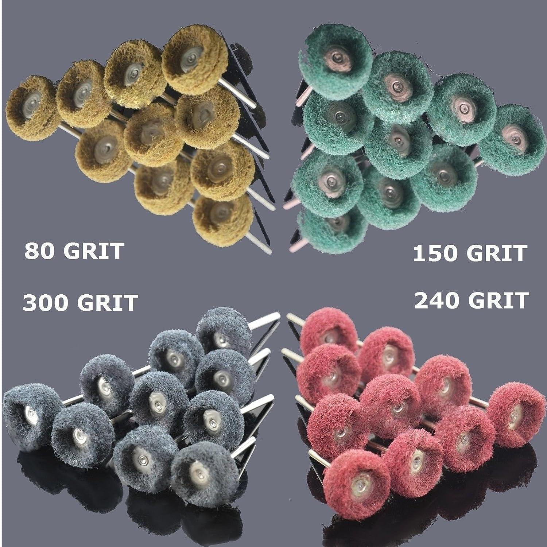 "25mm 200 PC 1/"" Abrasive Wheel Buffing Polishing Wheel fits  Rotary Tools"