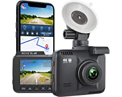 """Rove R2-4K Dash Cam Built in WiFi GPS Car Dashboard Camera Recorder with UHD 2160P, 2.4"""" LCD, 150° Wide Angle, WDR, Night Vis"""
